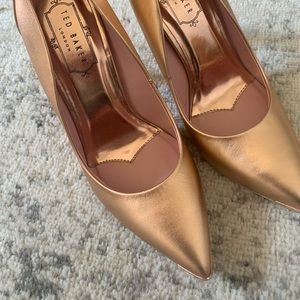TedBaker Rose gold heels